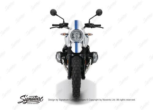 BKIT 4033 BMW R nineT Urban GS Full Double Stripes Stickers Cobalt blue front