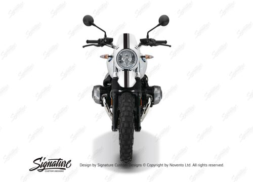 BKIT 4034 BMW R nineT Urban GS Full Stripes Stickers black front