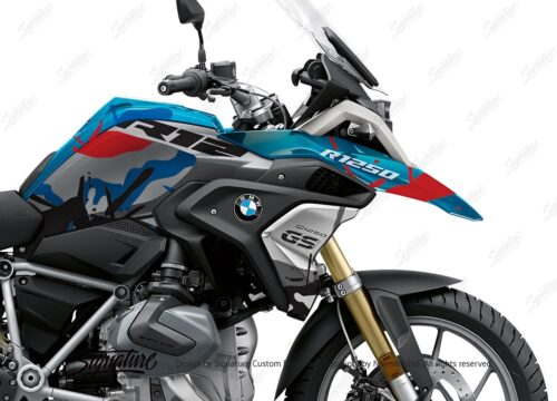 BKIT 4050 BMW R1250GS Cosmic Blue Safari Red Blue Stickers 02 1
