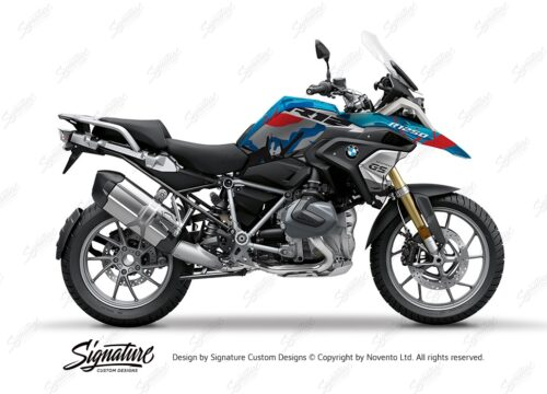 BKIT 4050 BMW R1250GS Cosmic Blue Safari Red Blue Stickers 1