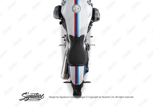BKIT 4116 BMW R nineT Racer Full M Sport Stripes Stickers 03