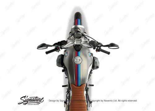 BKIT 4116 BMW R nineT Scrambler Full M Sport Stripes Stickers 02