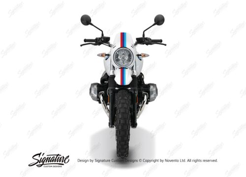 BKIT 4117 BMW R nineT Urban GS Full M Sport Stripes Stickers front