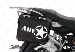 BSTI 4054 BMW ALUMINUM SIDE PANNIERS BLACK ADV STAR STICKERS white 02