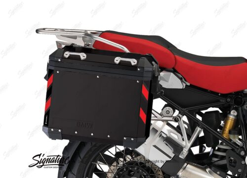 BSTI 4066 BMW Side Panniers Black Black Red Reflective Strips 02