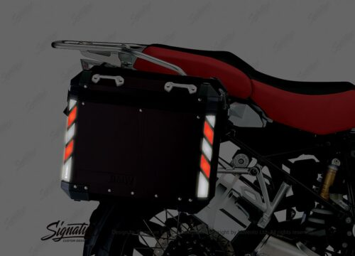 BSTI 4066 BMW Side Panniers Black Black Red Reflective Strips NIGHT 02