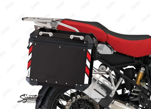 BSTI 4067 BMW Side Panniers Black White Red Reflective Strips 02 1