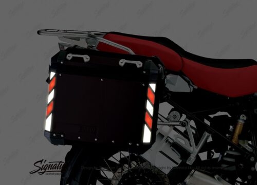 BSTI 4067 BMW Side Panniers Black White Red Reflective Strips NIGHT 02 1