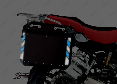 BSTI 4068 BMW Side Panniers Black Black Blue Reflective Strips NIGHT 02