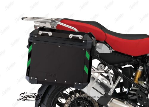 BSTI 4071 BMW Side Panniers Black Black Green Reflective Strips 02