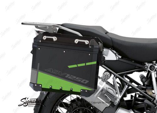 BSTI 4097 BMW Aluminum Panniers Vector Toxic Green Grey Silver 02