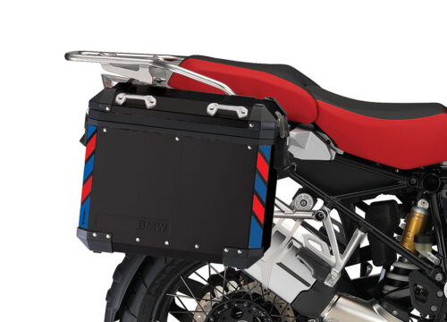 BSTI 4130 BMW Side Panniers Black Red Blue Reflective Strips 02