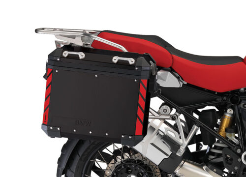 BSTI 4065 BMW Side Panniers Black One Color Reflective Strips Red 02