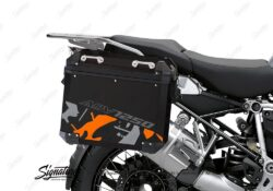 BSTI 4081 BMW Aluminum Panniers Safari Orange Grey silver 02