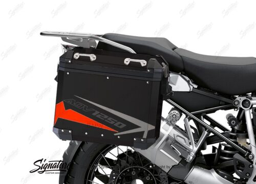 BSTI 4085 BMW Aluminum Panniers Spike Red Grey Silver 02