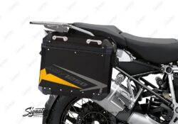 BSTI 4087 BMW Aluminum Panniers Spike Yellow Grey Silver 02
