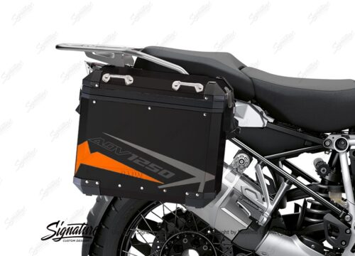 BSTI 4088 BMW Aluminum Panniers Spike Orange Grey Silver 02