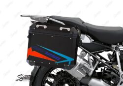 BSTI 4090 BMW Aluminum Panniers Spike Red blue light blue 02