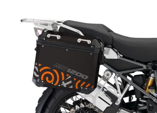 BSTI 4149 BMW Aluminum Panniers Four Elements Orange Silver 02 1