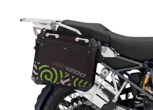 BSTI 4150 BMW Aluminum Panniers Four Elements Toxic Green Silver 02 1