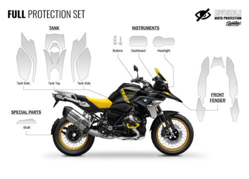 BMW R1250GS 40 Years GS Full Paint Protective Film