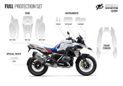 BPRF 4252 BMWR1250GS Style Rally Full Set Protective Films