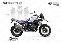 BPRF 4253 BMWR1250GS Style Rally Tank Set Protective Films 01