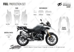 BMW R1250GS Light White Full Paint Protective Film