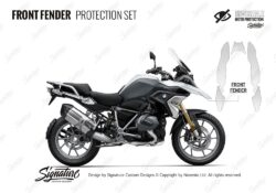 BMW R1250GS Light White Front Fender Protective Film