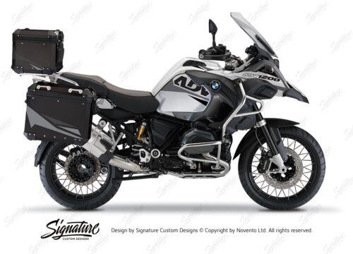 BSTI 4123 BMW Aluminum Top Box Black Grey Silver 01