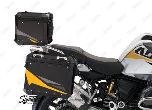 BSTI 4126 BMW Aluminum Top Box Black Yellow Silver 02