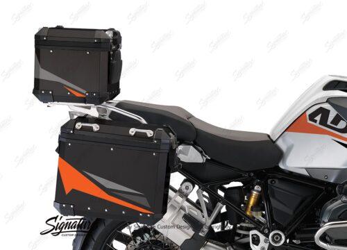 BSTI 4127 BMW Aluminum Top Box Black Orange Silver 02