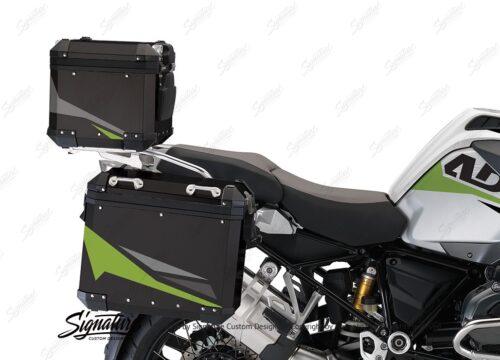 BSTI 4128 BMW Aluminum Top Box Black Toxic Green Silver 02