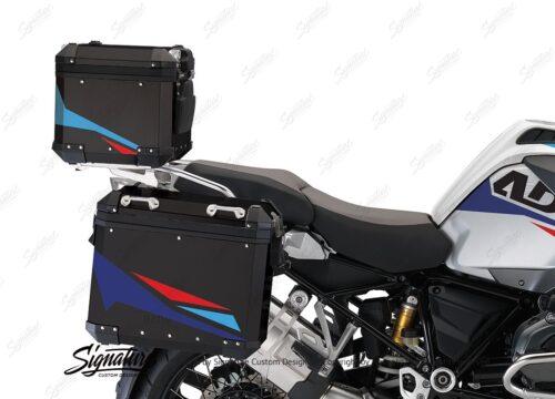 BSTI 4129 BMW Aluminum Top Box Black Red Blue 02