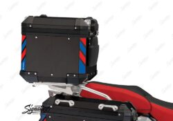 BSTI 4132 BMW Top Box Black Blue Red Reflective Strips day 03