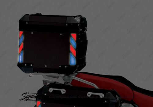 BSTI 4132 BMW Top Box Black Blue Red Reflective Strips night 04
