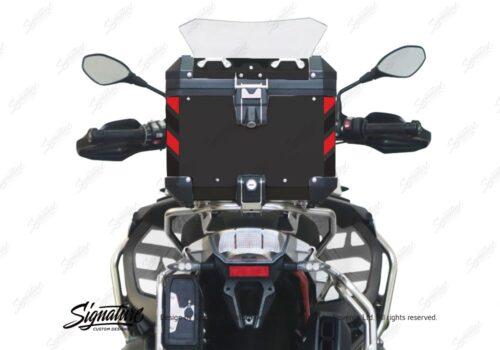 BSTI 4133 BMW Top Box Black Black Red Reflective Strips Rear 05