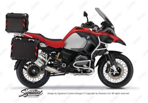 BSTI 4133 BMW Top Box Black Black Red Reflective StripsDay 01
