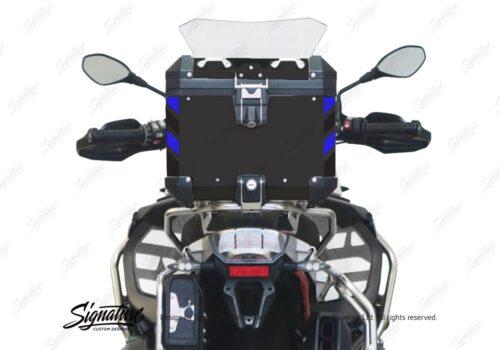 BSTI 4135 BMW Top Box Black Black Blue Reflective Strips Rear 05