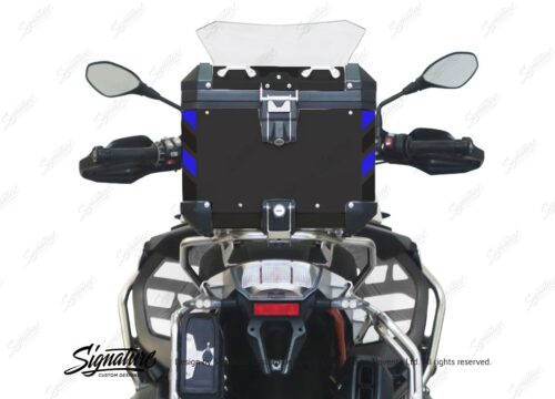 BSTI 4135 BMW Top Box Black Black Blue Reflective Strips Rear 05