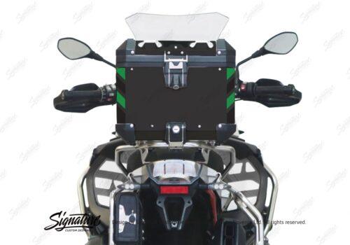 BSTI 4136 BMW Top Box Black Black Green Reflective Strips Rear 05
