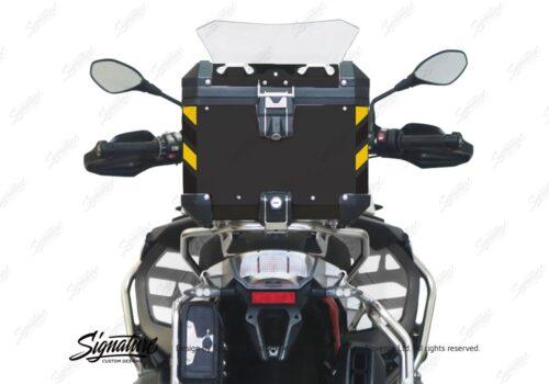 BSTI 4137 BMW Top Box Black Black Yellow Reflective Strips Rear 05