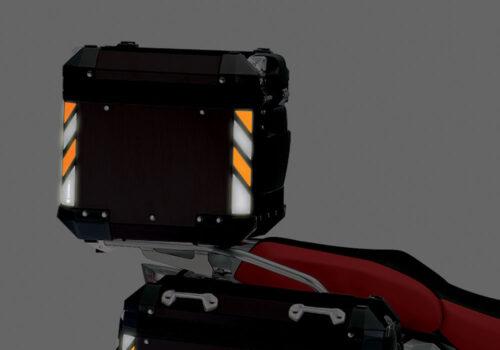 BSTI 4138 BMW Top Box Black Black Orange Reflective Strips Night 04