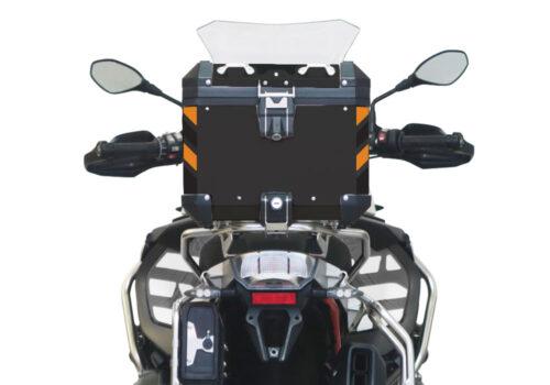 BSTI 4138 BMW Top Box Black Black Orange Reflective Strips Rear 05