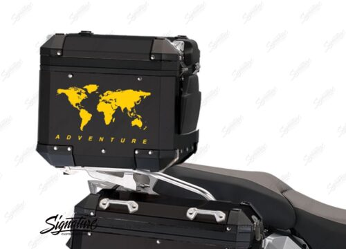 BSTI 4177 BMW Top Box The Globe Stickers Yellow 02