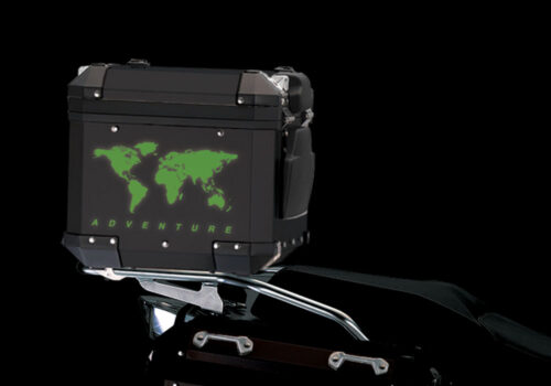 BSTI 4178 BMW Top Box The Globe Reflectives Green night