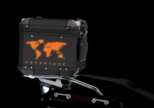 BSTI 4178 BMW Top Box The Globe Reflectives Orange night