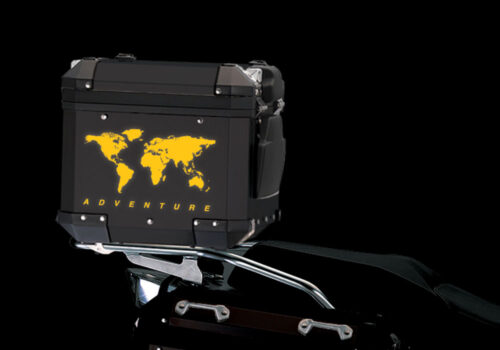 BSTI 4178 BMW Top Box The Globe Reflectives Yellow night