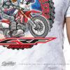 HTSH 4285 Honda CRF250L Rider T Shirt White 02 1
