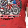 HTSH 4286 Honda CRF250L Rider T Shirt Red 02 1